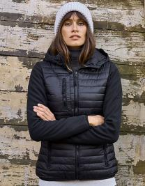 Ladies` Hooded Crossover Jacket
